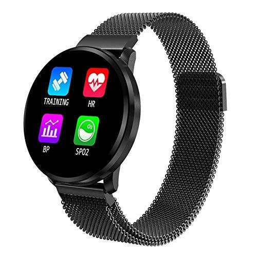 Fitness-Tracker Smart Watch, IP67 Wasserfest Männer und Frauen CF68 Smart Armband Bewegungsaufzeichnung Schlafmonitor Herzfrequenzüberwachung Nachricht Push Blutsauerstoffmessung Fitness Tracker (Schw