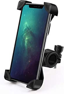 IMTISOP Bike Motorcycle Phone Mount Cell Phone Holder for Bicycle and Motorbike, Universal Adjustable Compatible with iPhone Xs Max XR X 8 7 6 Plus, 4-7 inches Cell Phones(Black)