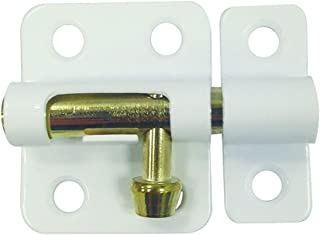 Prime-Line MP11386-1 Barrel Bolt Lock, 2-Inch, Steel, Painted White, Includes Installation Fasteners