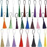 100 borlas de colores, 25 colores de borlas para llaves de aproximadamente 13 cm, para creación de joyas, accesorios artesanales, marcapáginas, decoración para el hogar (4 por color)
