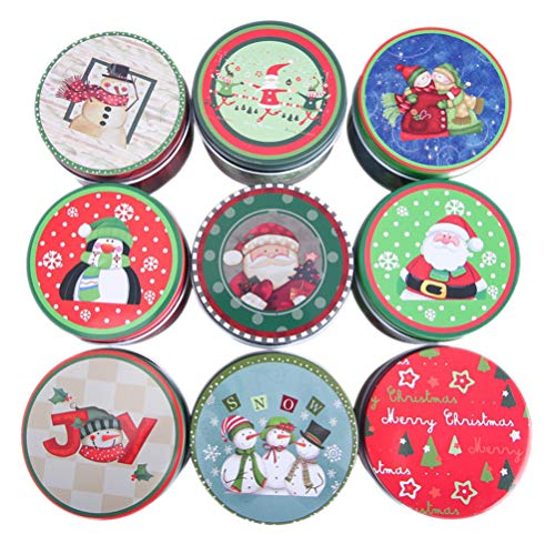 HEMOTON 4 Stück Weihnachtsbonbonbox R&e Weißblechdose Geschenkboxen Partyzubehör für Hochzeitsfestgeburtstag (Zufälliges Muster)