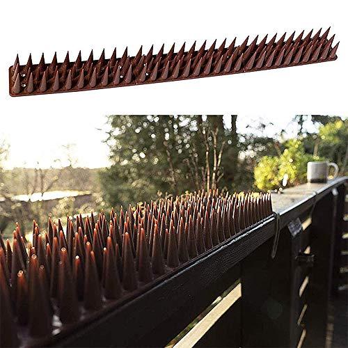 Pinchos para pájaros pequeños para palomas, pájaros, gatos, antirrobo, anti escalada, valla de pared de plástico para pájaros defensa,,longitud total: 5,1 m
