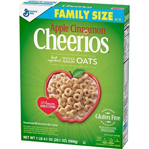 Apple Cinnamon Cheerios Gluten Free, Cereal, Family Size, 20.10 Oz