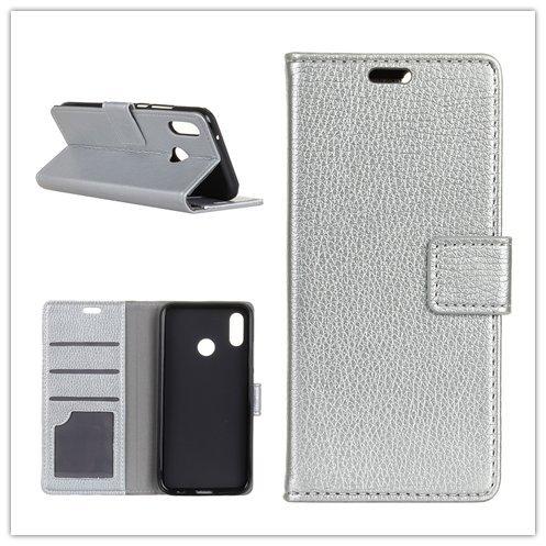 Funda® Flip Portefeuille Coque pour Asus Zenfone 5 ZE620KL/Asus Zenfone 5z ZS620KL (Argent)