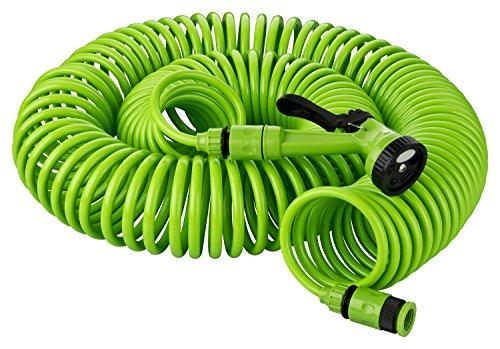 Kinzo 2822875 Set 30 mit Brauseschlauch Spirale mit 5 Funktionen, Anschluss Wasserhahn 1/2 Zoll