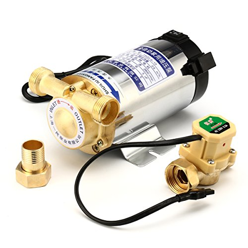 Tutoy 100W/150W Wasserdruck Verstärkerpumpe Dusche Home Electric Automatische Edelstahl-Wasserpumpe - 100W