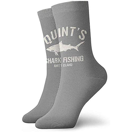 Be-ryl Quints Shark Fishing Logo Chaussettes Adult Crew Socks Chaussettes Mignonnes
