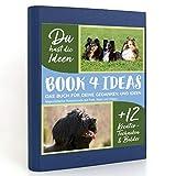 Book 4 Ideas Modern | Chiens de race majestueux sur champ, forêt et prairie, livre d'inscription avec images