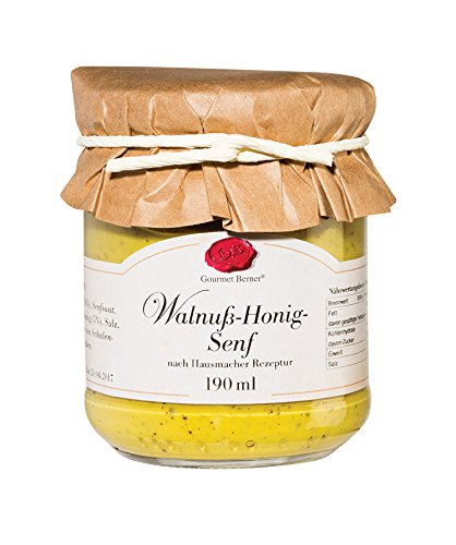 Walnuss Honig Senf 190 ml Glas / Grundpreis 3,66 € pro 100 ml.