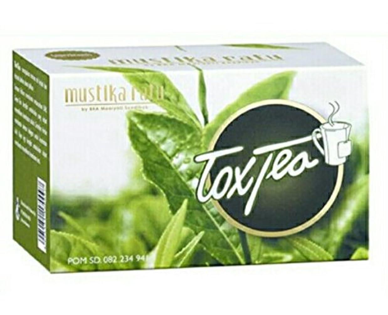 親指シーケンス結核Mustika ratu Tea ムスティカラトゥトックスティー3箱x 15個のティーバッグ= 45個のティーバッグ
