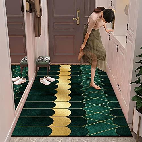 Alfombra Geométrica De Color Verde Oscuro Irregular para La Cabecera del Dormitorio, Alfombra De Oficina Simple Y De Gran Área, Sala De Estar, Sofá, Manta, Alfombra para Fotos