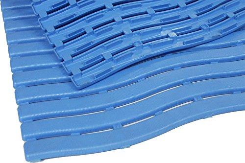 TP Trendy Nassraum-Matte ca. 60 x 90 cm, Farbe: Blau, Bodenbelag für Umkleideräume & Barfußbereiche, Stärke: 10 mm, Gute Rutschhemmung, Beständig gegen Laugen, Chlor- und Salzwasser