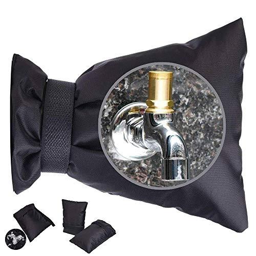 Noir Ensemble de 2 FEPITO Taille Moyenne Protection Robinet Exterieur Housse Robinet Jardin Protection Hiver Robinet Gel