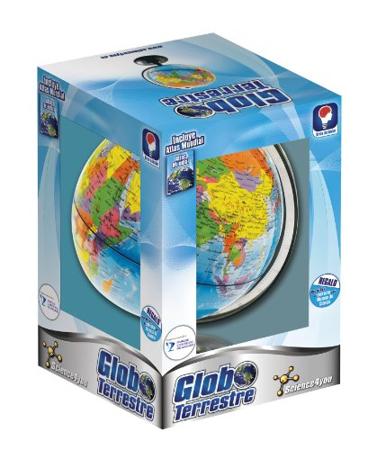 Science4you-5600310398788 Globo Terrestre y Atlas Mundial para Niños +8...