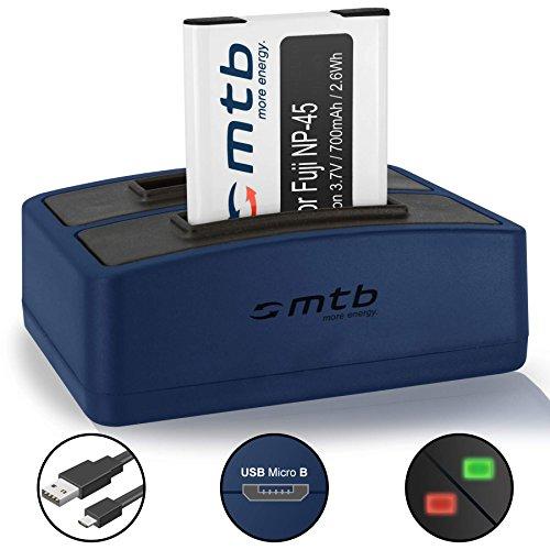 Batería + Cargador Doble (USB) para Fujifilm NP-45 / Finepix J. / JV. /JX600 ./JZ500. / XP80 XP90. - Ver Lista de compatibilidad