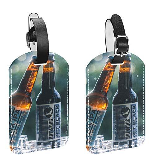 AITAI Lot de 2 étiquettes de bagages en forme de cubes de bière pour valises, étiquettes didentification de voyage pour sacs et bagages