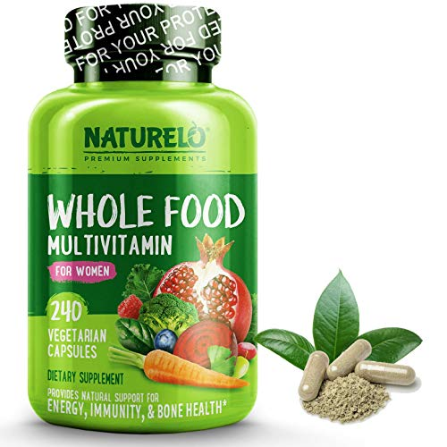 NATURELO Whole Food Multivitamin for Women - Natural...