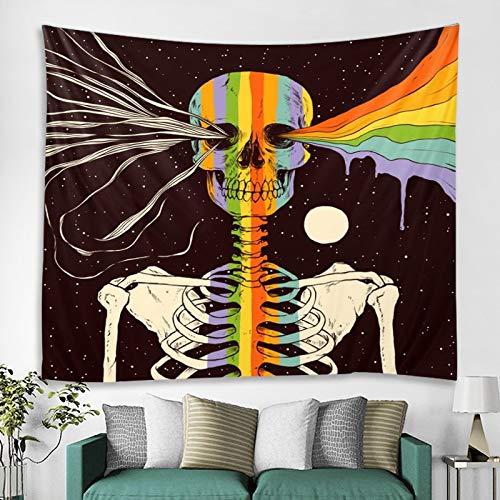 Cráneo estrellado indio Mandala tapiz de encaje colgante de pared tapiz tapiz psicodélico bohemio manta tela colgante A4 130x150cm