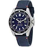 SPINNAKER Men's Tesei 43mm Blue Leather Band Titanium Case Sapphire Crystal Automatic Watch SP-5061-02