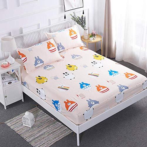 sábanas Doble,Sábana impermeable Funda de cama para mojar, funda de cama, funda antipolvo, funda protectora de colchón 1.8, 5 lados, paquete de cama 2 * 2.2-Geometric_patterns_150cmx190cm + 25