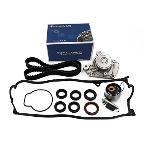 Timing Belt Kit Water Pump w/Gasket & Valve Cover Gasket Fit 2001-2005 Honda Civic 1.7L VTEC D17A 16v