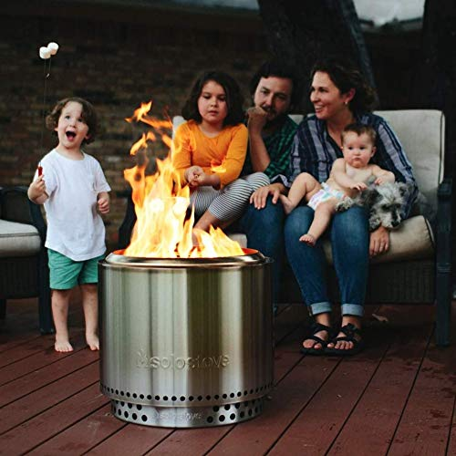 Product Image 7: Solo Stove Bonfire Backyard Bundle Includes Bonfire Fire Pit with Stand, Bonfire Shield, Carry Case, and Waterproof Shelter