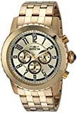 Invicta Men's Specialty Quartz Watch with Stainless-Steel Strap, Gold, 26 (Model: 19465)