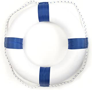 motawator 50cm Diameter Swim Foam Ring Buoy Swimming Pool Safety Life Preserver W/Nylon Cover Kid Child Adult