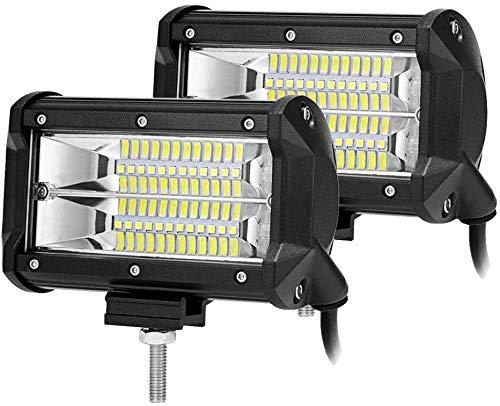 HENGMEI 2 x 72W LED Arbeitsscheinwerfer, 5400LM/Stück LED Arbeitslicht Zusatzscheinwerfer Offroad Scheinwerfer für SUV UTV ATV, 10-30V 6000K Wasserdicht IP67 (2 x 72W)