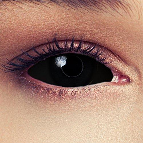 Schwarze Sclera Zombie Kontaktlinsen 22mm Linsen Halloween Kostüm Cosplay Larp