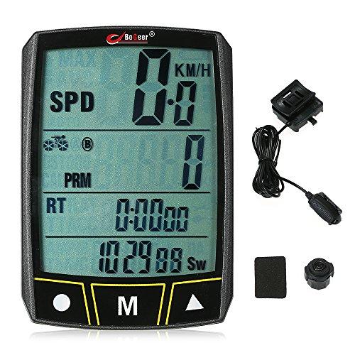Draadloos / bedrade fietscomputer fietsen fiets stopwatch sensor waterdicht met LCD-display kilometerteller LED backlight