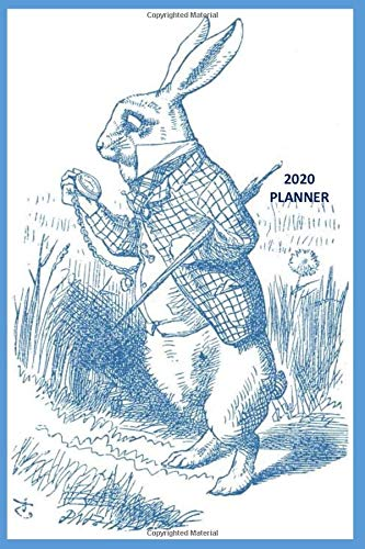 2020 Planner: Alice in Wonderland White Rabbit 2020 Weekly Planner with notes field. Unusual gift for antique, classic, retro lovers.