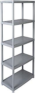 Kreher Practical Plastic Shelving in a Grey. Dimensions (W x D x H: 71x 38x 171cm Maximum Load 30kg per Shelf. TV Rhei...