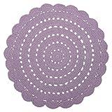 Alfombra Alma efecto crochet de algodón en color malva sólido redondo Ø120 ~ Nattiot
