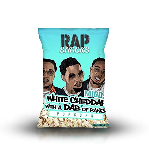 Rap Snacks 5 Pack Variety (2.75oz Bags) (Migos White Cheddar with a Dab of Ranch)