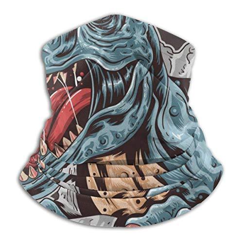 AEMAPE Ancient Trex Dinosaur Unisex Fleece A prueba de viento Calentador de cuello Calentador de cara Tubo de cuello Bufanda de cuello Polainas de cuello Bandana Negro