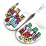 Oulensy 26pcs Shoe Charms Decoración 26 Letras Inglesas Accesorios Combinación De Calzado De Estilo Azar Kid Partido