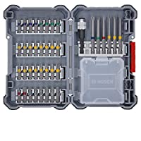 Can be customised: The adaptable extra hard screw driver bit set offers the right tool for every work area. Bits can be swapped as needed to mix and match sets Click-in system: The bit bundles engage securely in the click slots and you simply need to...