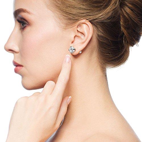 6 Paires 18G Boucles d'Oreilles en Acier Inoxydable Zircone Cubique Cartilage Oreille Hélix Piercings de Barbell Tragus… 5 Bijoutier Boutique 6 paires de boucles d'oreilles: est livré avec 6 paires de boucles d'oreilles couleur argent en 6 tailles différentes, 3 mm - 8 mm sont disponibles, chaque taille pour 1 paire, plus de choix pour un usage quotidien Caractéristiques: en acier inoxydable 316L, solide et durable, anti-rouille et ternir la résistance; Chaque boucle d'oreille polie dispose d'une pierre précieuse de zircone cubique scintillante Taille d'usage: calibre 18 (1 mm), longueur de barre portable de 6 mm, extrémité plate de 5 mm, taille commune pour s'adapter facilement à votre oreille; Convient pour le perçage des oreilles, convient également pour l'hélice, le piercing tragus