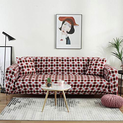 Funda Cubre Sofá Lavable 3 plazas y 4 plazas, Funda de sofá elástica para Sala de Estar, Funda de sofá elástica, Fundas de sofá en Forma de L de una Sola sección, 2 Piezas