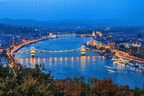 Puzzle für Erwachsene Ungarn Donau Fluss Budapest Puzzle 1000-teiliges Puzzle für Erwachsene