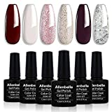 Allenbelle Smalto Semipermanente Smalti Semipermanenti Per Unghie Nail Polish UV LED Gel Unghie(Kit di 6 pcs 7.3ML/pc) 002