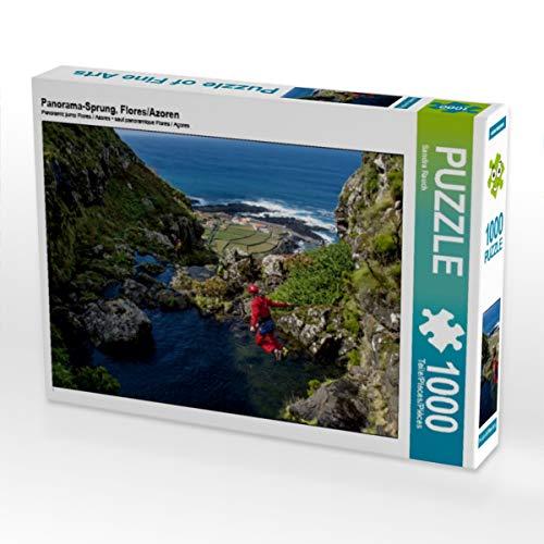 Produktbild CALVENDO Puzzle Panorama-Sprung,  Flores / Azoren 1000 Teile Lege-Größe 64 x 48 cm Foto-Puzzle Bild von Sandra Rauch