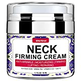 Wumal Neck Firming Cream, Anti Aging Moisturizer for Neck & Décolleté, Helps Lifting Sagging Skin, Reducing Wrinkles, Repair Crepe Skin, Double Chin Reducer, Skin Tightening Cream