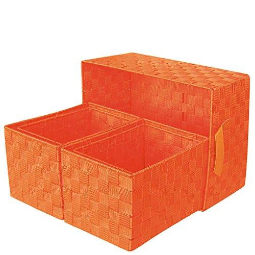laroom 13064 – Set 5 paniers, Couleur Orange
