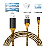 Compatible with iPad iPhone to HDMI Adapter Cable, Braole Connector, Digital AV Adapter Cord Support 1080P HDTV...