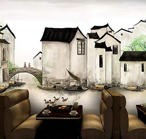 Carta da Parati Cinese Vintage Murale Ristorante Sfondo Muro -430 * 300cm