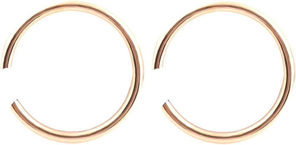 Gsdviyh36 Body Piercing Jewelry,40Pcs Unisex C Shape Stainless Steel Open Nose Ring Gift Perfect a Jewelry Gift Nose Ear Lip Belly Button Decor