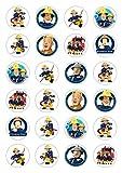 24x Feuerwehrmann Sam Celebration Essbare Papier Cupcake Topper Kuchen Dekorationen