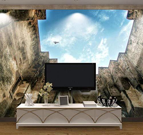 3D vliesbehang foto vlies premium fotobehang textured hemelbehang wandschilderij natuur-Thailand enorm Boeddha 3D voor woonkamer tv-achtergrond foto Natuur 400*280 400 x 280 cm.